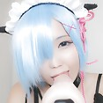 Cute vocaloid style Japanese cosplay naked - image