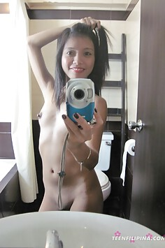 Tiny tits and cute Filipina selfie girls