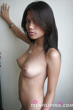 Busty and raw filipina party girl strips nude
