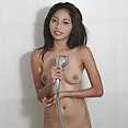 Wet and wild cute filipina girl friend in the shower - image