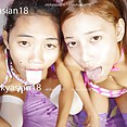 Topless and naked young Thai girls lewd tongues  - image