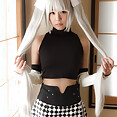 Cute Japanese girl does naked cosplay on webcam - image