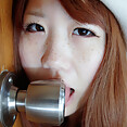 Japanese Ahegao girls who give blowjobs to doorknobs - image