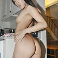 Korean girl friend naked in my kitchen - image