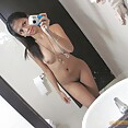 Candid shots and selfies of naked Asian girl friends - image