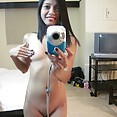 Asian GF does nude selfies for long distance boyfriend - image