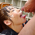 Japanese girls are by far the best at receiving bukkake cumshots - image