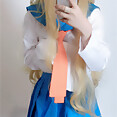 Selfie girl amateur Sailor Moon style cosplay - image