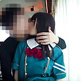 Shy Japanese cosplay girl actual sex pictures - image