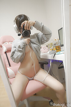 Japanese selfie cosplay chick