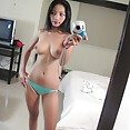 Cute and naked Asian webcam girls do selfies - image