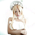 Cute Japanese blonde maid cosplay series - image