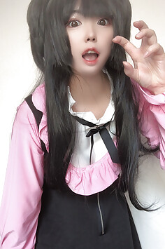 Cute face filter cosplay girl